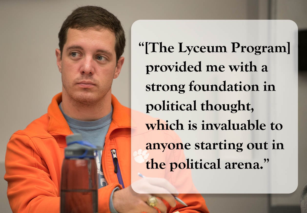 Lyceum Scholars Program, Clemson Institute for the Study of Capitalism, Clemson University